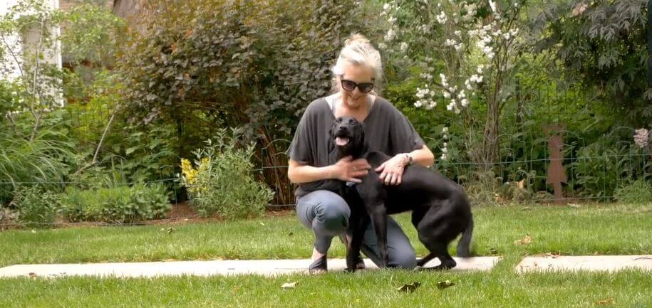Donna Deateau with happy passionate dog
